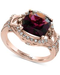 Effy Collection - Rhodolite Garnet (3-3/8 Ct. T.w.) And Diamond (1/2 Ct. T.w.) Ring In 14k Rose Gold - Lyst