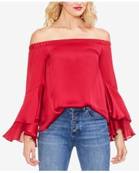 Vince Camuto - Off-the-shoulder Bell-sleeve Top - Lyst