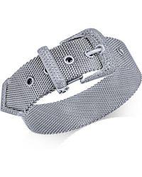 Macy's - Diamond Buckle Bracelet (1-1/4 Ct. T.w.) In Sterling Silver - Lyst