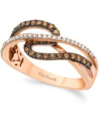 Le Vian | Chocolate And White Diamond (3/8 Ct. T.w.) Ring In 14k Rose Gold | Lyst