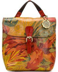 Patricia Nash Vatoni Convertible Leather Backpack - Multicolour