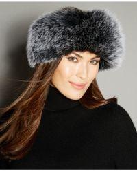 The Fur Vault - Fox Fur Knitted Headband - Lyst