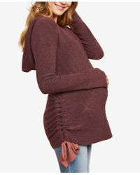 Jessica Simpson - Maternity Ruched Sweater - Lyst