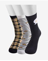 Kate Spade Sheer Liner Sock, 3 Pair - Multicolor