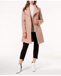 Kenneth Cole - Asymmetrical Bouclé Walker Coat - Lyst