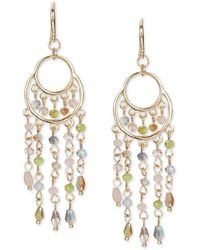Style & Co. Gold-tone Multi-bead Chandelier Earrings, Created For Macy's - Metallic