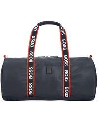 BOSS by Hugo Boss Hyper Printed Duffel Bag - Blue