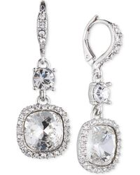Givenchy - Cushion-stone And Crystal Drop Earrings - Lyst