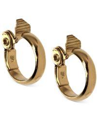 Anne Klein - Gold-tone Wide Hoop E-z Comfort Clip-on Earrings - Lyst