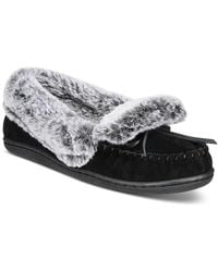 Charter Club Dorenda Moccasin Slippers, Created For Macy's - Black