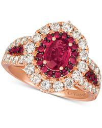 Le Vian - ® Certified Ruby (1-1/5 Ct. T.w.) & Diamond (1-1/4 Ct. T.w.) Ring In 14k Rose Gold - Lyst