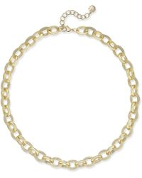 Charter Club - Gold-tone Pavé Link Statement Necklace - Lyst