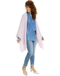 Charter Club Solid Cashmere Wrap, Created For Macy's - Blue