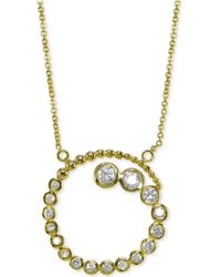 Giani Bernini - Cubic Zirconia Spiral Journey Pendant Necklace 18k Gold-plated Sterling Silver, Created For Macy's - Lyst