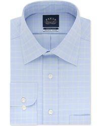 Eagle - Classic/regular Fit Non-iron Flex Collar Check Dress Shirt - Lyst