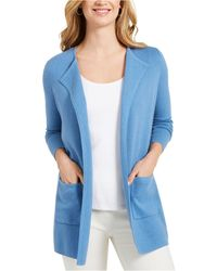 Charter Club - Milano Cotton Open-front Sweater, Created For Macy's - Lyst