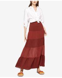 BCBGeneration - Tiered Chiffon Maxi Skirt - Lyst