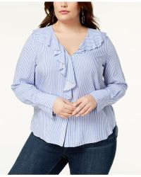 Soprano - Trendy Plus Size Ruffled Blouse - Lyst