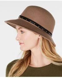 Nine West Wool Felt Trench Hat - Brown