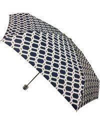London Fog Mini Manual Umbrella - White