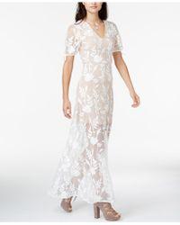 Endless Rose Embroidered Illusion Maxi Dress - White