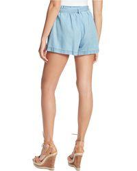 Jessica Simpson Shira Belted Denim Shorts - Blue