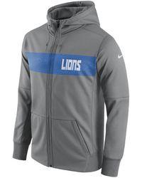 41834be3bff Men s Performance Circuit Wordmark Essential Hoodie.  75. Macy s · Nike - Detroit  Lions Seismic Therma Full-zip Hoodie - Lyst
