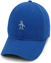 Original Penguin Core Twill Logo Pete Cap - Blue
