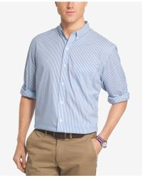 Izod - Men's Advantage Bengal Striped Shirt - Lyst