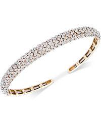 Wrapped in Love - Diamond Pavé Cuff Bracelet (3 Ct. T.w.) In 14k Gold - Lyst