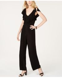 INC International Concepts - I.n.c. Metallic Ruffle Jumpsuit, Created For Macy's - Lyst