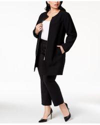 Alfani - Plus Size Collarless Ponté-knit Jacket, Created For Macy's - Lyst