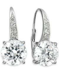Giani Bernini - Cubic Zirconia Leverback Earrings In 18k Gold Over Sterling Silver, Created For Macy's - Lyst