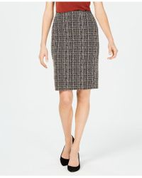 Kasper - Petite Tweed Skirt - Lyst