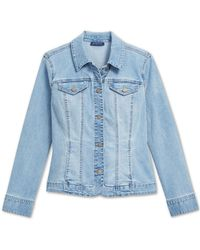 Charter Club Button-up Denim Jacket, Created For Macy's - Blue
