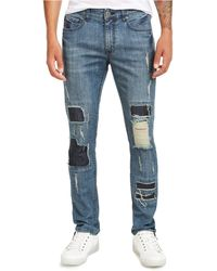 INC International Concepts Ripped Skinny Jeans, Created For Macy's - Blue