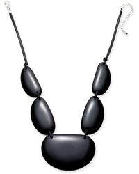"""Style & Co. Resin Statement Necklace, 21-1/2"""" + 3"""" Extender, Created For Macy's - Multicolor"""