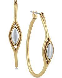 Lucky Brand | Two-tone Hoop Earrings | Lyst