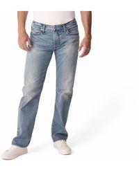 Silver Jeans Co. Light Indigo Wash Straight Leg Jeans - Blue