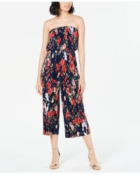 19 Cooper - Strapless Pleated Jumpsuit - Lyst