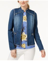 INC International Concepts - Lace-up-back Denim Jacket, Created For Macy's - Lyst