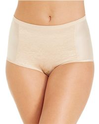 Vanity Fair - Smoothing Comfort With Lace Brief 13262 - Lyst