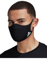 adidas Badge Of Sport Face Covers - 3 Pk. - Black