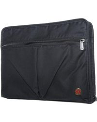Token Waxed Woodlawn Portfolio - Black