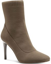 INC International Concepts Vidalia Knit Dress Booties, Created For Macy's - Brown