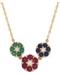 Macy's - Multi-gemstone (2-1/3 Ct. T.w.) Collar Necklace In 14k Gold - Lyst