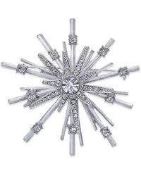 INC International Concepts - Silver-tone Pavé Star Pin - Lyst