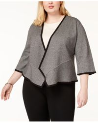 Alfani - Plus Asymmetrical Cardigan, Created For Macy's - Lyst