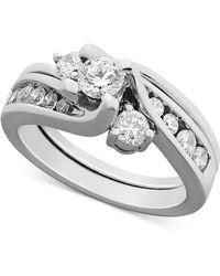 Macy's - Certified Diamond Bridal Set Ring In 14k White Gold (1 Ct. T.w.) - Lyst