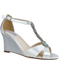 Dyeables Codi Wedge Sandal - White